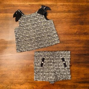 Janie and Jack Boucle Shorts & Top Set 2T NWT